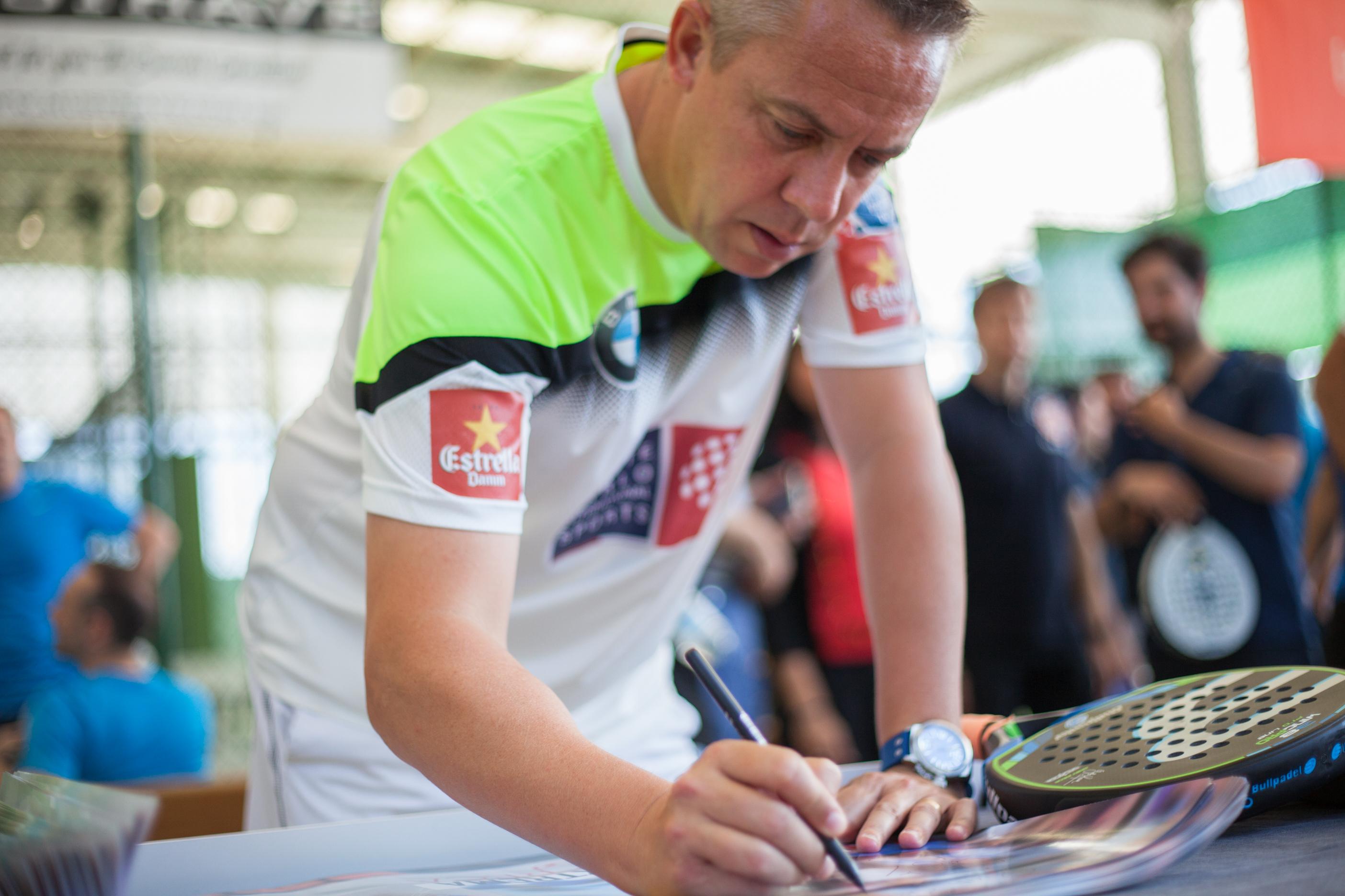 Gaby Reca durante el torneo