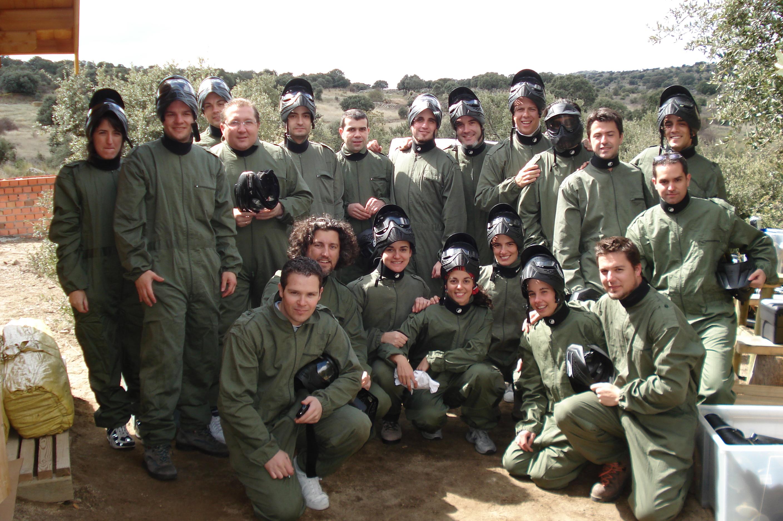 Algunos compañeros de Paradigma en el año 2008