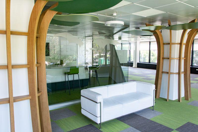 Espacio abierto en las oficinas de Paradigma